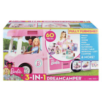 BARBIE 3-in-1 Dream Camper Van and Accessories - 50 Play Pieces **NEW**