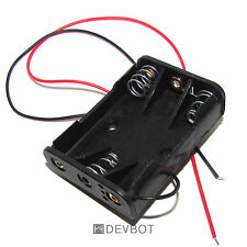 Support 3 Piles AAA LR3 avec fils. Coupleur, Batterie, Boitier, DIY, Arduino, Pi