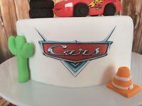 Cars Cake Topper Edible printed Logo