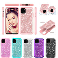 For iPhone 11 Pro Max X 7 8 Plus Bling Glitter Shockproof Soft Bumper Case Cover