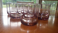 Pink Libbey Old Fashion On Rocks Glasses WHiskey Juice Glasses Tumblers 8 10 oz