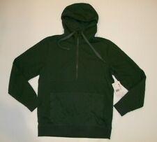 MARMOT Green WOOL Blend GALEN Zip Neck Hoodie Sweatshirt Mens Size MEDIUM  NEW