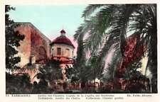 Tarragona Spain Cathedral Tinted Real Photo Antique Postcard J47476