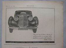 1944 Aston Martin Original advert