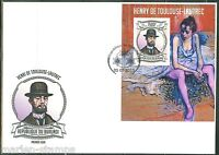 BURUNDI  2013  HENRI TOULOUSE LAUTREC   SOUVENIR SHEET  FIRST DAY COVER