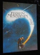 THE ADVENTURES OF BARON MUNCHAUSEN promotional flyer TERRY GILLIAM