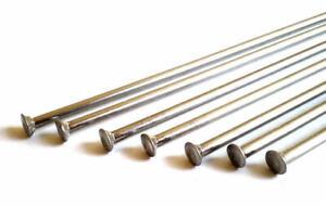 Sapim 14g 2.0mm Straight Pull Silver Stainless Spokes & Nipples Custom lengths