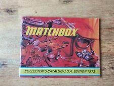 Matchbox Katalog 1972