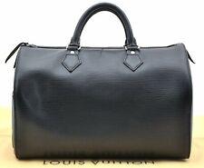 Authentic Louis Vuitton Epi Speedy 30 Hand Bag Black LV A4602