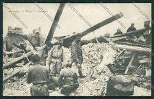 L'Aquila Avezzano Terremoto cartolina QQ3897