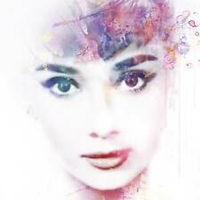 VeeBee - Audrey Hepburn in watercolour - signed limited edition print