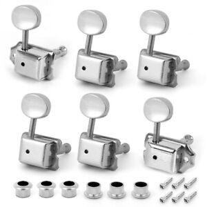 6R Guitar Vintage Tuning Pegs Machine Heads Tuners for Fender Strat Parts Chrome