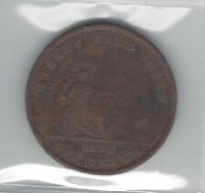 **1852**Province of Canada One Penny Token, Coin Mart Graded**VF-20 Corrosion**