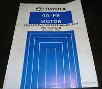 Workshop Manual Toyota Carina II Motor 4 a-Fe , Stand 11/1989