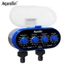 Timer elettrico Aqualin irrigazione innaffiamento giardino 2 uscite max 7 giorni