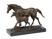 Bronzeskulptur Bronze Skulptur Pferd Fohlen 6,5kg Figur Pferde Bronzefigur