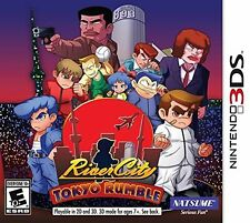 NEW River City: Tokyo Rumble (Nintendo 3DS) with Limited Edition Kunio Keychain