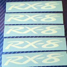 5 x Mazda RX8 Vinyl Stickers Decals for Alloy Wheels, Door Handles, Mirrors etc