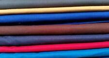 """100% Cotton Fabric Sheeting Plain Solid Colours per M  Width 45"""" Inc VAT"""