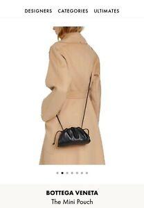 Bottega Veneta Black Mini Pouch Crossbody Bag