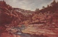 Old Chrome Postcard ca1950 A612 Oak Creek Canyon Hwy 70 Flagstaff Sedona AZ