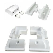 Full Set White ABS Solar Panel Mounting Brackets with Cable Gland & Side Bracket