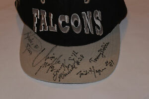 1990s ATLANTA FALCONS AUTOGRAPHED CAP/HAT! ANDRE RISON/TONY SMITH/CHRIS MILLER +
