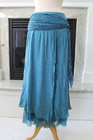 PRETTY ANGEL NWT Blue Gorgeous Layered Lace Peasant Gypsy Boho Long Skirt S