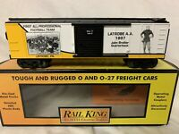 ✅MTH FIRST FOOTBALL TEAM LATROBE PENNSYLVANIA BOX CAR! FIT LIONEL NFL STEELERS