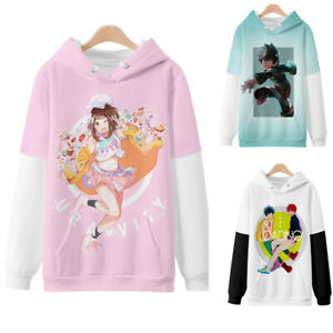 My Hero Academia 3D Sweater Hoodie Sweatshirt Anime Pullover Hooded Coat New