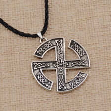 Slavic Sun Wheel Pendant Necklace Amulet Jewelry Norse Nordic Pagan Scandinavian