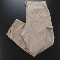 CARHARTT FR Cat 2 Beige Denim Regular Straight Pants Mens W38 L30