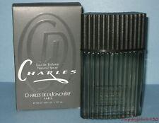 Vintage Charles Eau De Toilette Natural Spray Charles de la Jonchere 3.3 fl oz