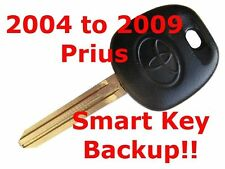 Toyota Smart Key Backup Remote Prius Silver and Black Logo 2004 to 2009