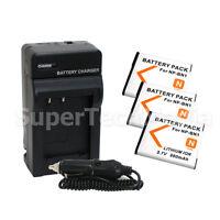 3 Battery + Charger For Sony NP-BN1 DSC-W320 DSC-W310 DSC-T110 DSC-T99 DSC-TX9