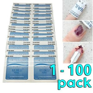 Nail Polish Remover UV Soak Off Acetone Art Removal Gel Wraps Cleaner Disposable