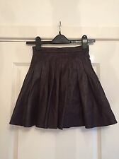 Gorgeous All Saints Burgundy Red Leather Pleated Flore Skirt UK 6 Worn Twice