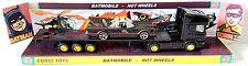 HOT WHEELS Batman 1:64 BATMOBILE & Flatbed Truck on Custom Corgi Display Stand