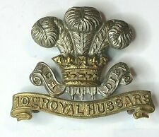 WW1 10th royal hussars cap badge 2 lugs 39 x 49 mm