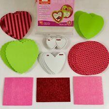 "~$7~New 12 Heart-Shaped Valentines Day 5""x5 Cards Foam Activity Kit = 48 Pcs Ttl"