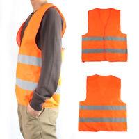 Für Motorrad Reflektierende Warnweste Sicherheitsweste Unfallweste Orange