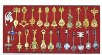 25pcs/set Fairy Tail Lucy Metal Keys Pendant Necklace Keychain Model