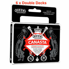 Queen's Slipper Canasta Playing Cards Casino Quality Plastic 6 x Double Decks