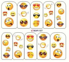 Nail Art Water Decals Transfer Stickers Emoji Mixed Emotion Kawaii (BOP137)