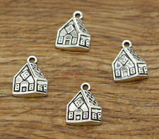 20 Gingerbread House Charm Christmas Home Charm Diy Antique Silver 13x17 2098