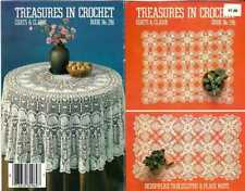 TABLECLOTH Gift PATTERNS Vintage LACE Clarks 296 Booklet 1981