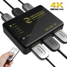 Huaka 4K Ultra HD HDMI Switcher 4K X 2K 3D 1080P HD Audio With Controller #AZG