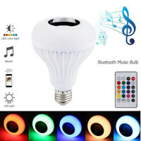12W Wireless Bluetooth LED Light Speaker Bulb RGB Music Playing Lamp With Remote