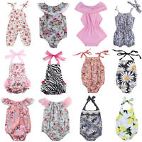 Floral Newborn Infant Baby Girl Romper Bodysuit Jumpsuit Outfit Sunsuit Clothes