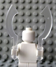 Custom Khopesh CURVED SWORD 4 pcs for LEGO Minifigures -Trans-Clear- Castle LOTR